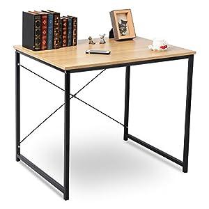 WOLTU TSB03hei-a Holz mit Eisen-Gestell Computertisch Bürotisch Schreibtisch PC Tisch Arbeitstisch Esstisch Große Desktop Design