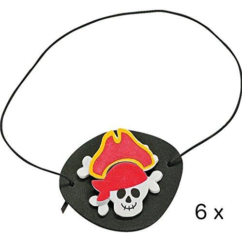 Elfen und Zwerge 6 x Piraten Bastelset Augenklappen Piratenklappen Piratenparty Geburtstag Mitgebsel Schatzsuche