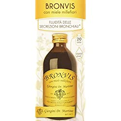 Dr. Giorgini Integratore Alimentare, Bronvis con Miele Millefiori Liquido Analcoolico - 200 ml