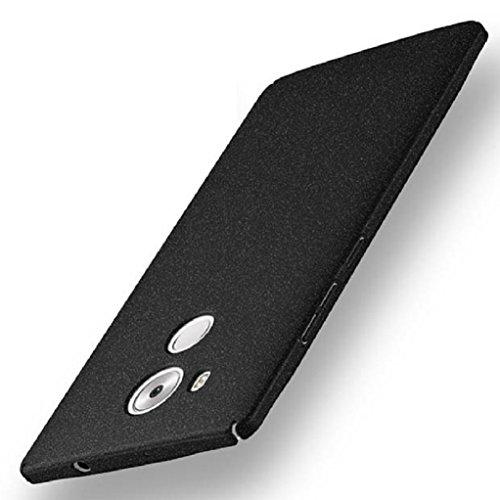 Bllosem Huawei Mate 8 Hülle Neu High Quality Ultra Slim Sand Rock Exquisite reale Haut Gefühl Ganzkörper Schutzhülle Hülle für Huawei Mate 8 Hülle Schwarz