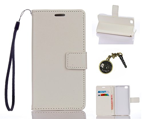 Preisvergleich Produktbild PU Silikon Schutzhülle Handyhülle Painted pc case cover hülle Handy-Fall-Haut Shell Abdeckungen für (Huawei P8 Lite) +Staubstecker (2DD)