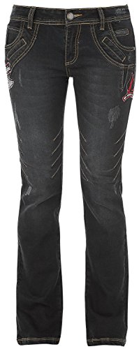 Rock Rebel by EMP Seams Grace (Boot-Cut) Jeans donna nero W27L32
