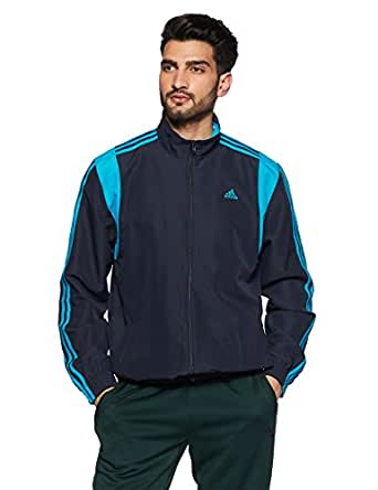 Adidas Men's Synthetic Track Jacket (CD3050_Navy Blue_X Large)
