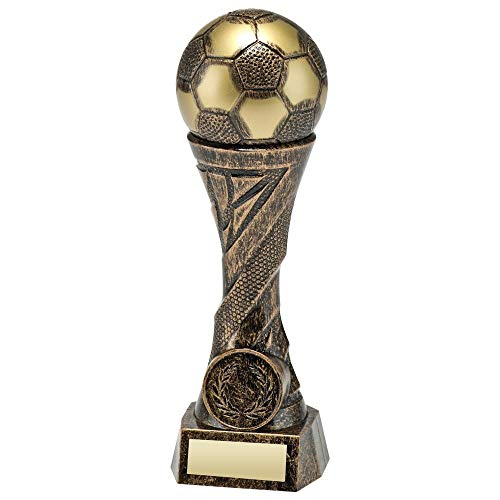 Lapal Dimension Fußball-Pokal, Kunststoff, 25 cm, bronzefarben/goldfarben