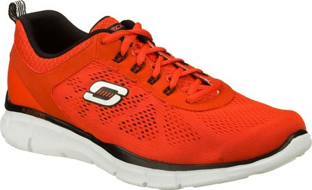 Skechers Equalizer-Deal Maker, Baskets Basses Homme Red/black