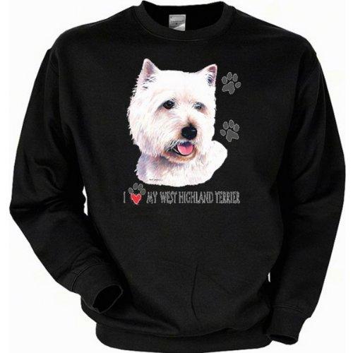 cooles Sweatshirt - Hunde Motiv West Highland Terrier - Sweater Herren Pullover Pulli Geschenk Weihnachten Geburtstag West Highland Terrier Sweatshirt