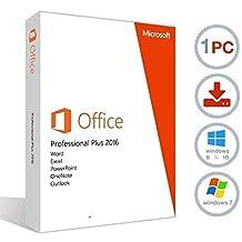 MIcrosoft Office 2016 Professional Plus (clé et téléchargement uniquement numériques) Licence à vie pour 1 PC 1 Utilisateur