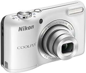 Nikon Coolpix L27 Digitalkamera (16 Megapixel, 5-fach opt. Zoom, 6,9 cm (2,7 Zoll) LCD-Monitor) Kit inkl. 4GB Speicherkarte und Kameratasche weiß