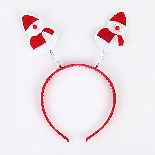 Septven Kinder Weihnachtsschmuck erwachsene Kinder verkleiden sich Santa Claus Kostüm Schneemann Stirnband Haarbänder Variety (Send Zufalls Style) (Claus Erwachsene Kostüme Santa Kit)