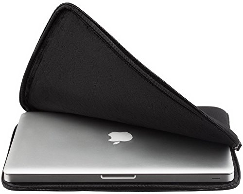 """Runetz 11-inch BLACK Soft Sleeve Case Cover for MacBook Air 11.6"""" and Samsung Chromebook 11"""" HP & Acer Laptop - Black"""