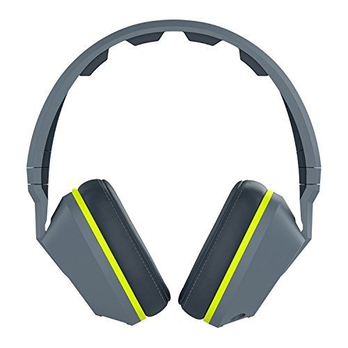 Kopfhörer Mic 3 Skullcandy (Skullcandy Crusher Over-Ear Surround Kopfhörer mit Mikrofon - Grau/Hot Lime)