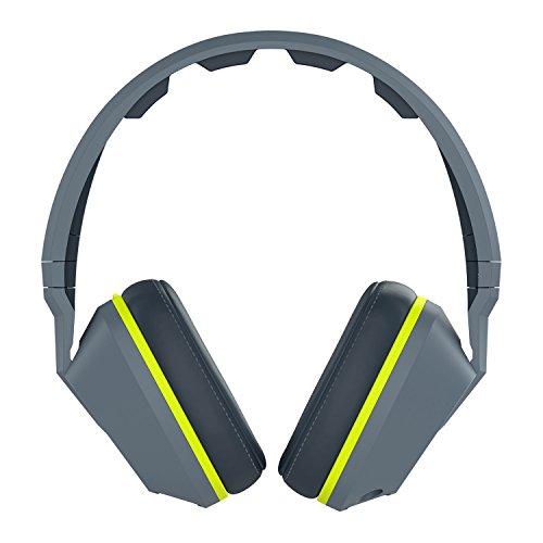 Skullcandy Crusher Over-Ear Surround Kopfhörer mit Mikrofon - Grau/Hot Lime (Skullcandy Over-ear-kopfhörer)