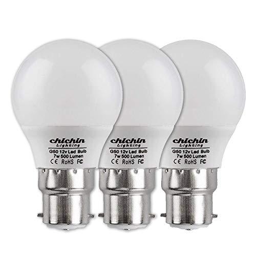 ChiChinLighting LED-Leuchtmittel, 12 Volt, 7 Watt, 12 V, Niederspannung, Off-Gitter, Sonnensystem, Boot, Wohnmobil, Wohnwagen, LED-Lichter (kaltweiß, 3er-Pack)