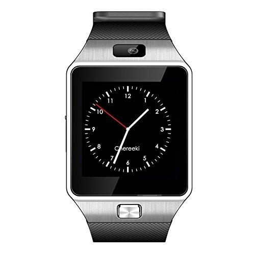 CHEREEKI Smarthwatch Bluetooth Smart Watch Orologio Intelligente con Macchina Fotografica SIM / TF Card Slot Schermo Touch Contapassi Ottimo Smartwatch per Smartphone Android Samsung Huawei Honor HTC LG Sony