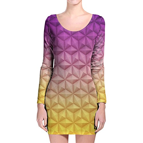 epcot-spaceship-earth-longsleeve-bodycon-dress-s-kleid-xs-3xl