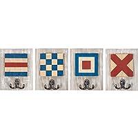 Batela Nautical Coat Hook Set-Flag Alphabet