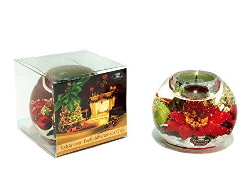 FesteFeiern Teelichthalter Glas Handarbeit. Model: