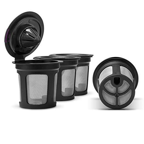 bulerty nachfüllbare Kaffee Filter Tasse wiederverwendbare Kaffee-Pod gefüllt Ekapsel kompatibel mit Keurig 2.0 1.0 K Tasse Kaffeemaschinen (Keurig Kaffee-espresso Pods)