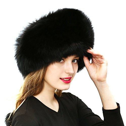 MIOIM(R) Faux Fur Cossak Russian Style Winter Hat for Ladies Women