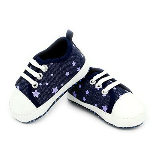 leap frog  Stars Canvas Shoes, Baby Mädchen Lauflernschuhe Dunkelblau