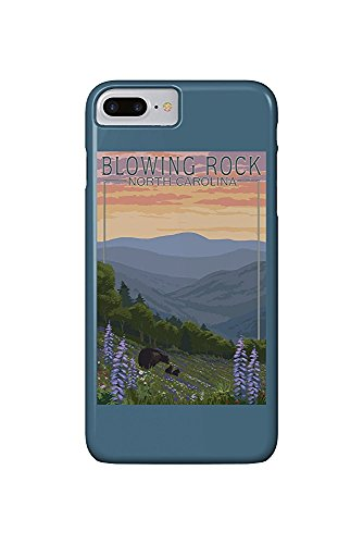 Blowing Rock, North Carolina - Spring Flowers and Bear Family (iPhone 7 Plus Cell Phone Case, Slim Barely There)