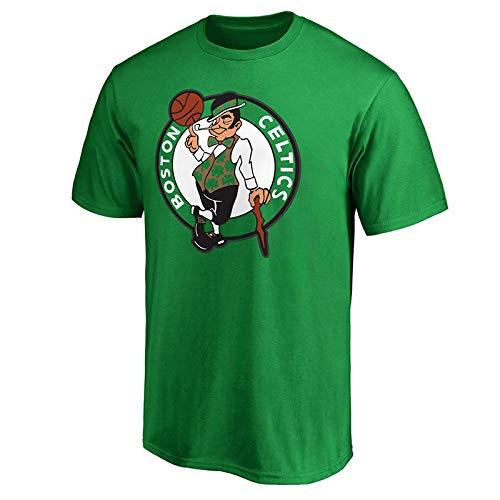 QAZ NBA - Jersey Celtics - Rundhalsausschnitt Komfortable, Atmungsaktive, Kurze Ärmel Sport Männer T-Shirt NBA T-Shirt,Green-M - Captain Green T-shirt