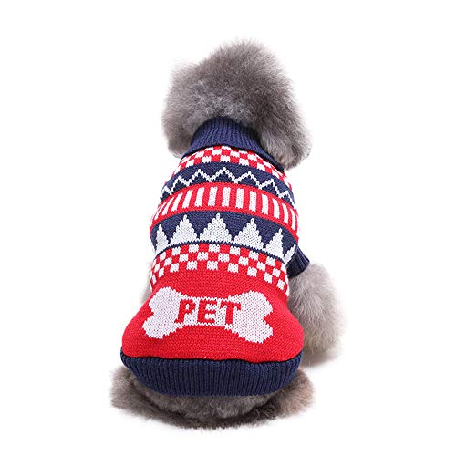 Dragon868 Haustier Hund Katze Winter Schildkröte Neck Letter Sweater Coat Kostüm Bekleidung