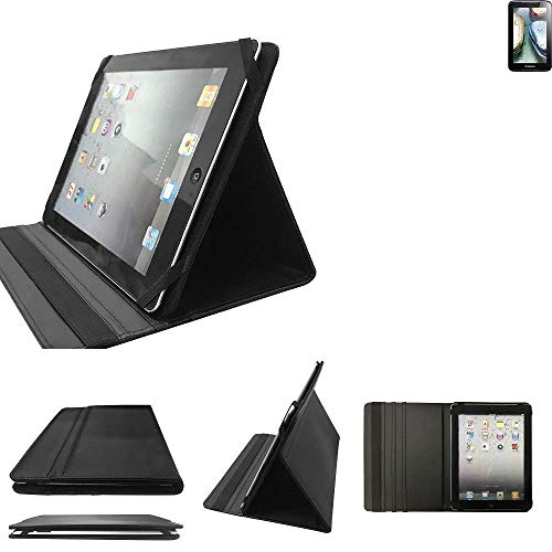 Lenovo IdeaTab A1000 Schutz Hülle Business Case Tablet Schutzhülle Flip Cover Ultra Slim Bookstyle Tasche für Lenovo IdeaTab A1000, schwarz. Kunstleder Qualitätsware - K-S-T
