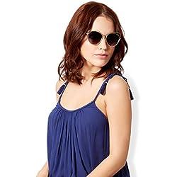 Accessorize Damen Chloe Sonnenbrille aus Metall in Katzenaugenform - Einheitsgröße