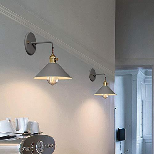 Nachtwandlampe Gang Schlafzimmer Treppe kleiner schwarzer Regenschirm macarons Farbe Wandlampe braun mit Edison LED Vierwattlampe