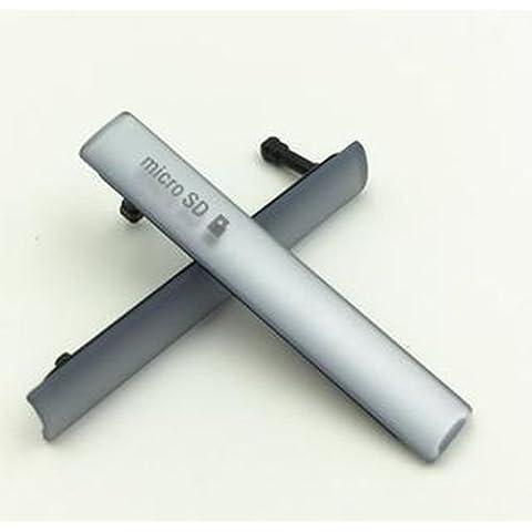 Giffonque Tapa lateral del puerto micro USB/ Micro SD para Sony Xperia Z3 Compact D5833 D5803