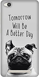 The Racoon Lean happy pug hard plastic printed back case / cover for Xiaomi Redmi 3