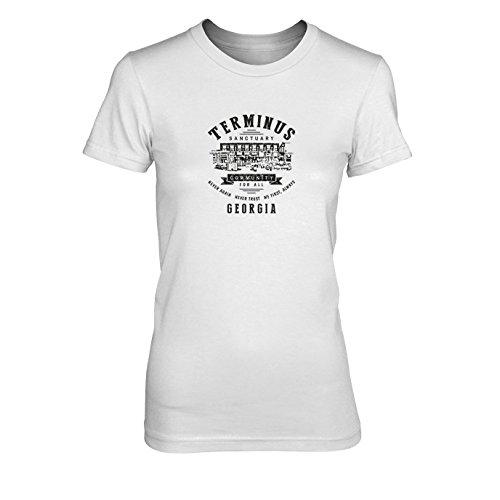 Damen T-Shirt, Größe: M, Farbe: weiß (Komplette Damen Zombie Kostüme)