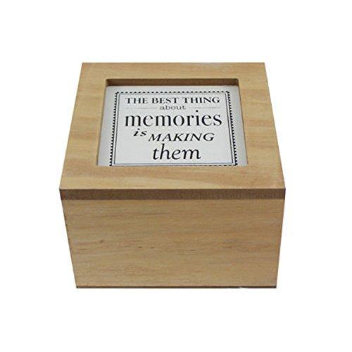 Ardisle De madera Caja Recuerdo Memoria Almacenamiento Con Tapa Tressure Guau En mal estado Elegante Almacenamiento Compromiso Niña Bautizo Regalo DUELO en memoria de Papá Mamá o un amado uno Joyería