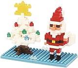 Nanoblock Santa Claus and Xmas Tree Puzzle (Over 180 Pieces)