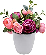 Artificial Flowers Home Decorative Simulation Small Potted Plant Artificial Plants, Yatai, Purple/Pink, Poenyf