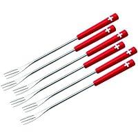 KUHN RIKON 32206 - Juego de tenedores para fondue (6 unidades), diseño de cruz suiza