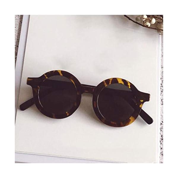 SYxiongsheng - Gafas de sol para bebé con marco Uv400 Yellow (child) 1