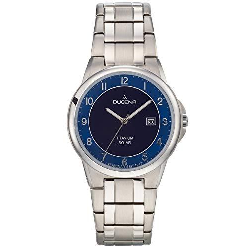 Dugena Herren Analog Quarz Uhr mit Titan Armband 4460918