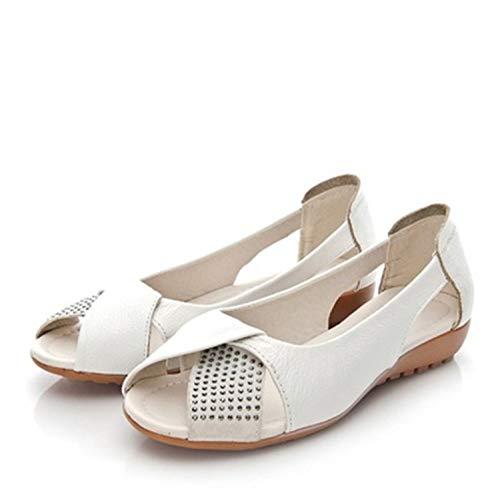 KISS&LOVE Platform Sandals Women Non-Slip Nice Women Casual Shoes Summer Ladies Single Shoes AA20601 White 6.5 -