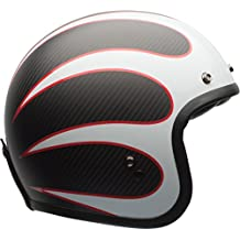 Bell 7081011 Custom 500 Carbon Ace Cafe Ton Up Casco, Negro/Blanco, Talla