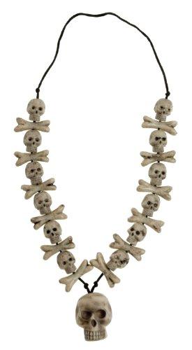 Widmann 8597N - Halskette Totenkopfdekor, circa 40 cm (Die Preise Richtigen Kostüm)