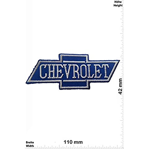 Patch - Chevrolet - blue - Cars - Motorsport - Racing Car Team - toppa - applicazione - Ricamato termo-adesivo - Give Away - Racing Chevrolet