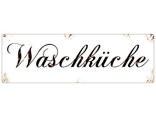 Shabby Blechschild METALLSCHILD Türschild WASCHKÜCHE Vintage Geschenk Waschraum
