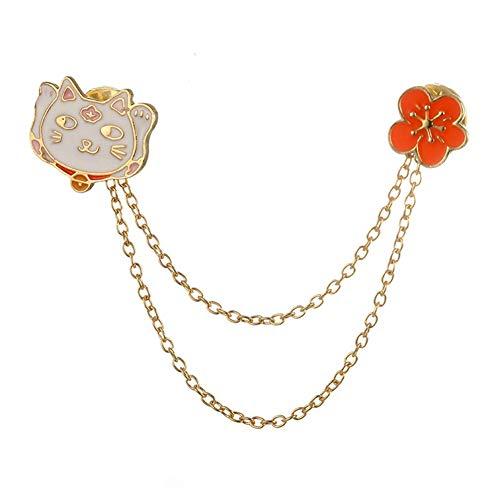Miss charm Mode Niedlich Und Einfache Persönlichkeit Japanischen Und Koreanischen Version Der Blume Lucky Katzen Halsband Nadel Brosche Pin-Legierung -