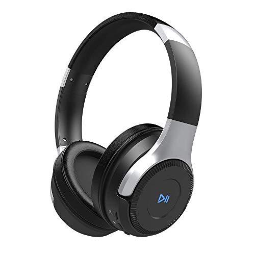 ZEALOT B26T - Cuffie Bluetooth senza fili, bassi profondi, con microfono e batteria al litio 800 mAh NOIR+ARGENT