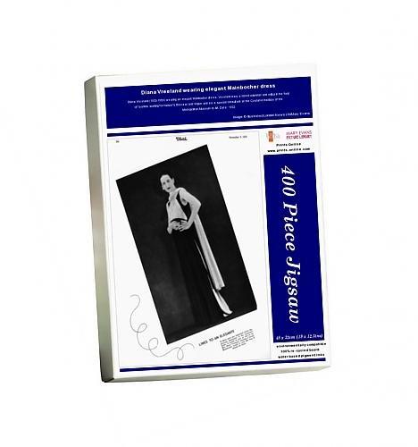 Media Storehouse 400 Piece Puzzle of Diana Vreeland wearing elegant Mainbocher dress (14396908)