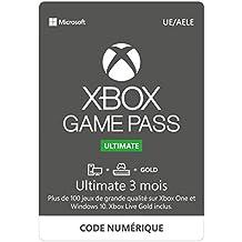 Abonnement Xbox Game Pass Ultimate   3 Mois   Xbox One/Win 10 PC - Code jeu à télécharger