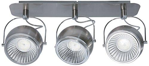 SPOT-LIGHT Deckenleuchte Modell Ball Schienenleuchte 3 Spots inklusive 3 x GU10, 5 W, LED 3000 k, metall, nickel matt 5009387