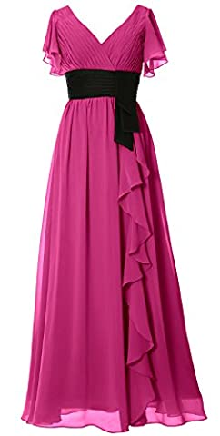 MACloth - Robe - Trapèze - Manches Courtes - Femme - rose - 46